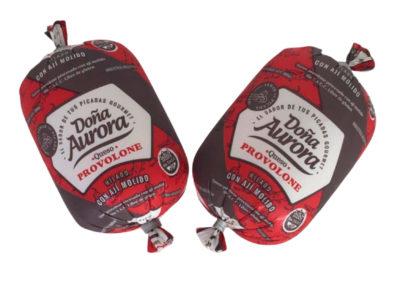 Queso Provolone para Picadas con Ají Molido peso 300 gr.