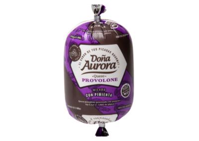 Queso Provolone para picadas Doña Aurora con Pimienta